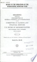 Review of the Operations of the International Monetary Fund