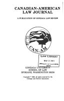 Canadian-American Law Journal