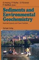 Pdf Sediments and Environmental Geochemistry Telecharger