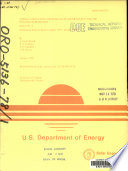 Annual Collection And Storage Of Solar Energy For The Heating Of Buildings