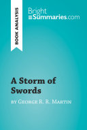 A Storm Of Swords By George R R Martin Book Analysis