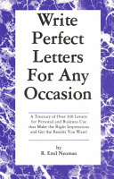 Write Perfect Letters For Any Occasion Book PDF