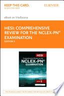 HESI Comprehensive Review for the NCLEX PN   Examination   E Book