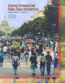 American Government and Politics Today  The Essentials 2008 Book PDF