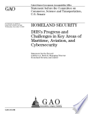 DH's Progress and Challenges in Key Areas of Maritime, Aviation, and Cybersecurity