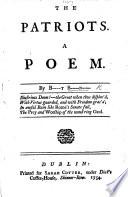 The Patriots  A Poem  By B    t B     n