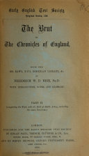 The Brut  or  The Chronicles of England
