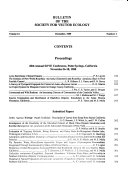 Bulletin Of The Society For Vector Ecology