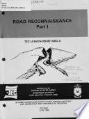Road Reconnaissance Book
