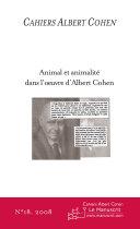 Cahiers Albert Cohen N°18