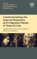 Pdf Constitutionalising the External Dimensions of EU Migration Policies in Times of Crisis Telecharger