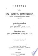 Letters of the Rev  Samuel Rutherford