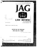 Jag Law Review