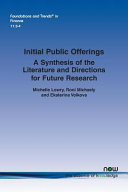 Initial Public Offerings A Synthesis Of The Literature And Directions For Future Research