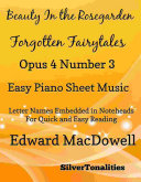 Pdf Beauty In the Rosegarden Forgotten Fairytales Op 4 No 3 Easy Piano Sheet Music
