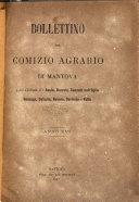 Bollettino del comizio agrario di Mantova e dei distretti riuniti di Asola, Bozzolo, Canneto sull'Oglio, Gonzaga, Ostiglia, Volta
