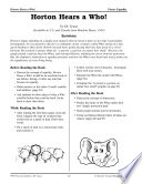 Dr  Seuss Literature Activities  Horton Hears a Who Book PDF