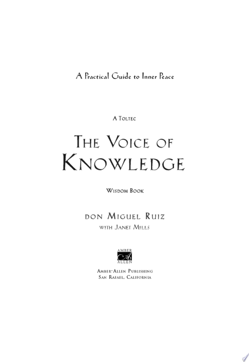 The Voice of Knowledge image