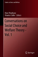 Conversations on Social Choice and Welfare Theory   Vol  1