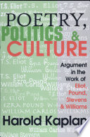 Poetry  Politics  and Culture