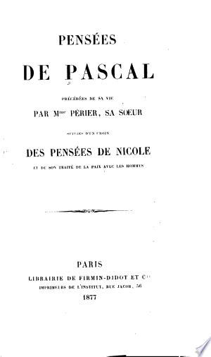 Pensées de Pascal