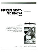 Personal Growth and Behavior  94 95