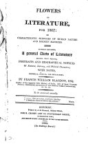 Flowers of literature; for 1801 & 1802(-1805): or, Characteristic sketches of human nature and modern manners, with notes by F. Prevost and F. Blagdon ebook