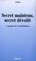 Pdf Secret maintenu, secret dévoilé Telecharger