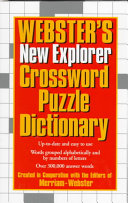 Webster s New Explorer Crossword Puzzle Dictionary