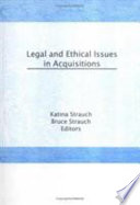 Legal and Ethical Issues in Acquisitions Book