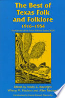 The Best of Texas Folk and Folklore  1916 1954