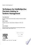 Techniques for multiobjective decision making in systems management