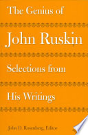 The Genius of John Ruskin Book