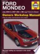 Ford Mondeo Petrol and Diesel Service and Repair Manual