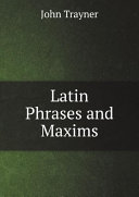 Latin Phrases and Maxims