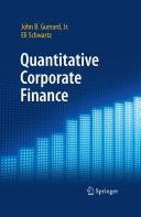 Quantitative Corporate Finance [Pdf/ePub] eBook