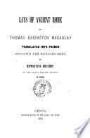 Lays of Ancient Rome by Thomas Babington Macaulay