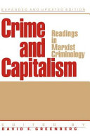 Crime And Capitalism