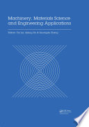 Machinery  Materials Science and Engineering Applications