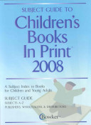Subject Guide To Children S Books In Print 2008