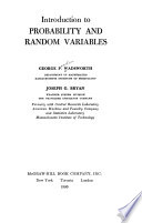 Introduction to Probability and Random Variables
