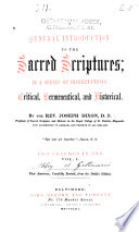 A General Introduction to the Sacred Scriptures