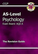 As Level Psychology Aqa Revision Guide