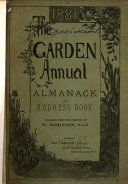 The Garden Annual  Almanack  and Address Book