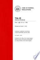 Title 26 Internal Revenue Part 1 (§§ 1.61 to 1.169) (Revised as of April 1, 2014)