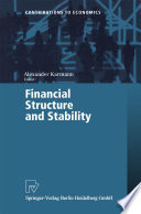 Financial Structure and Stability Book