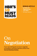 Pdf HBR's 10 Must Reads on Negotiation (with bonus article