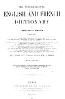 The International English and French Dictionary ...