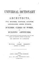 A universal dictionary for architects ... &c