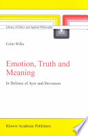 Emotion  Truth and Meaning